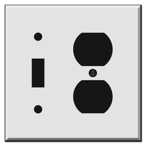 Half Narrow Toggle Outlet Cover Switch Plates