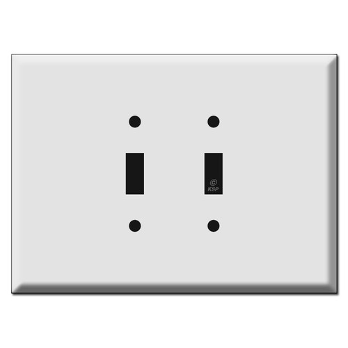 """Extra Wide 7.5"""" Long Oversized 2 Toggle Wall Plates"""