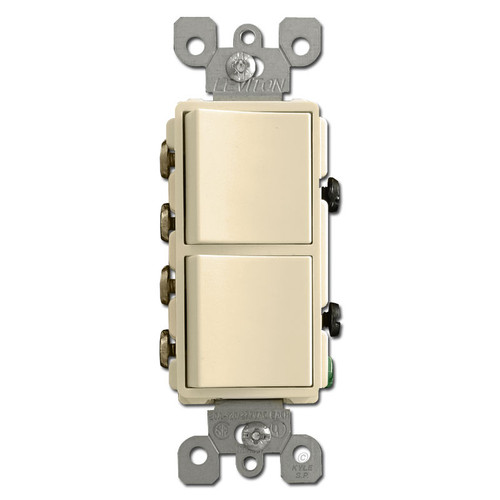 20A 3-Way Combo Decora Rocker Switches - Ivory