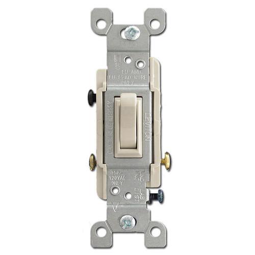 3-Way Toggle Switch 15A - Light Almond