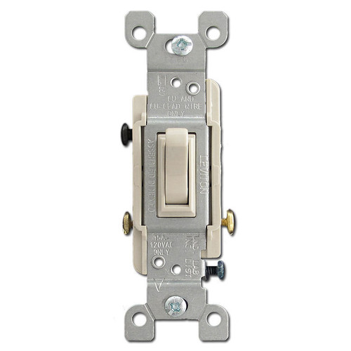 3-Way Toggle Switch 15A - Light Almond