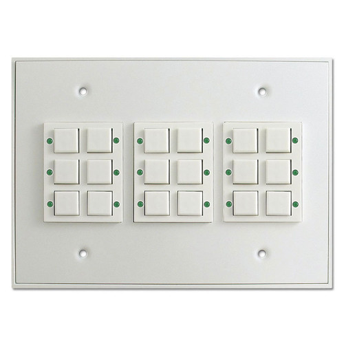 Touch Plate Low Voltage Classic LED 18 Button Switch - White