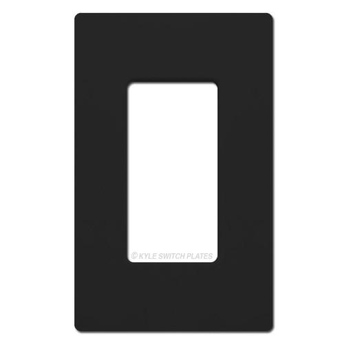 1 Rocker GFI Screwless Light Switch Cover Lutron - Black