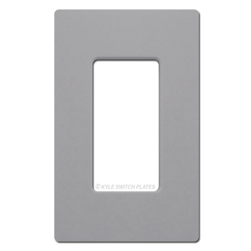 1 Rocker GFI Screwless Switch Plate Cover Lutron - Gray
