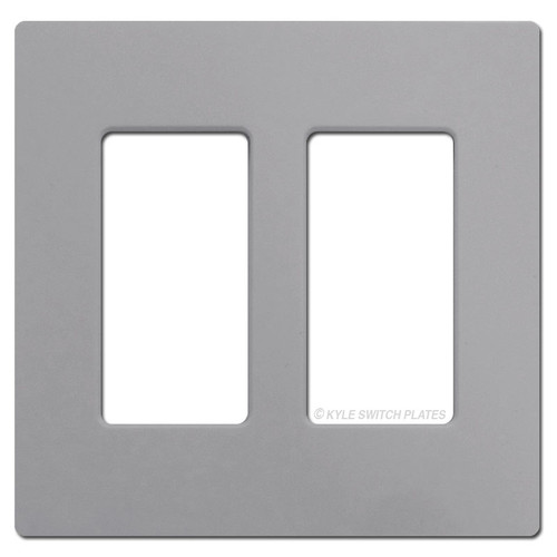 Screwless 2 Decor Outlet Switch Plate Lutron - Gray Plastic