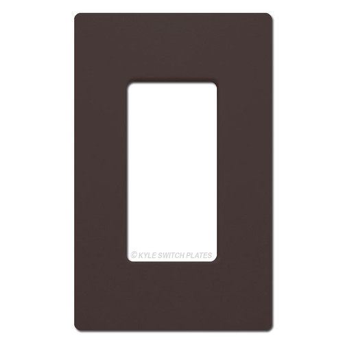 1 Rocker GFCI Outlet Screwless Cover Plate Lutron - Brown
