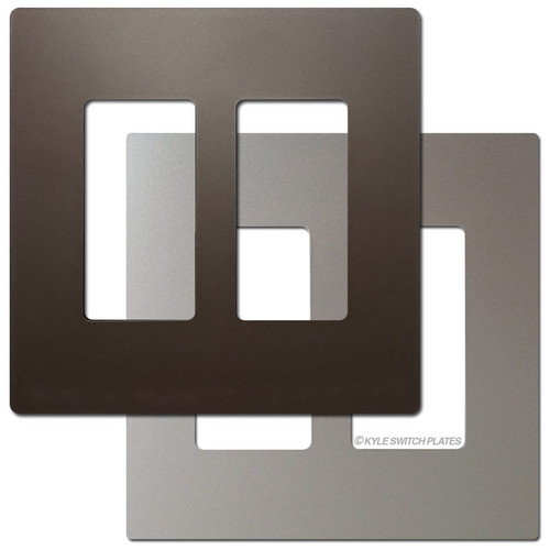 2 Decor Metallic Screwless Light Switch Plate - Legrand