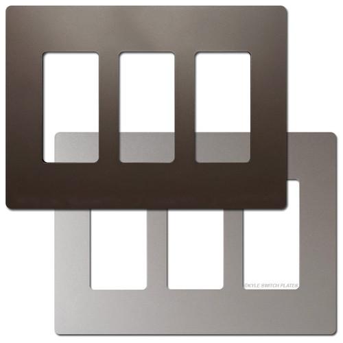 3 Decor Metallic Wall Switchplate - Screwless Plastic