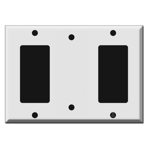 Decora Blank Decora Triple Wall Switch Plate Covers