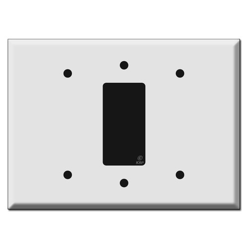 Oversized Blank Rocker Blank Wall Switch Plate