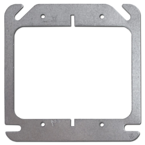 """2 Device Plaster Ring 4"""" Square Junction Box Cover"""