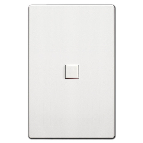 Touchplate 1 Switch Low Voltage Mystique Control - White