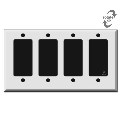 Short 4 Decor Rocker GFCI Light Switch Covers