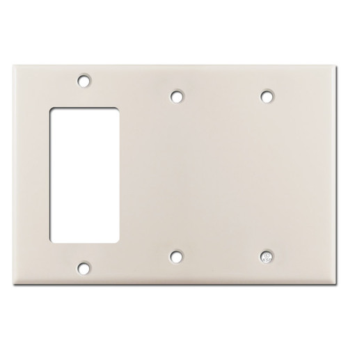 1 Decora Rocker & 2 Blank Wall Switch Plates - Light Almond