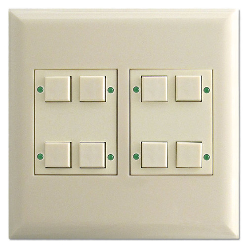 Touchplate LED Lighted 8 Button Control Switch - Almond
