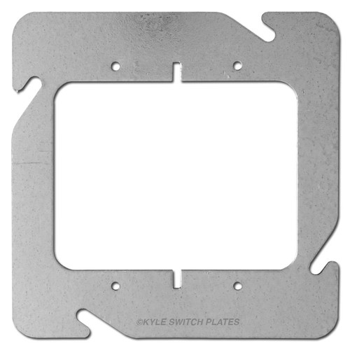 """2 Device Plaster Ring for 4-11/16"""" Square Electrical Box"""