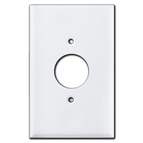 Large White Single Round Socket Covers
