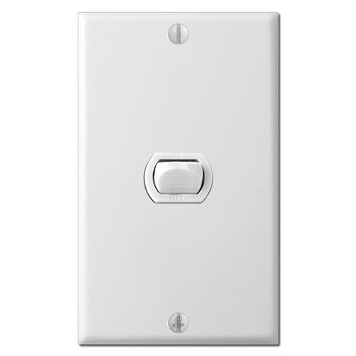 White 1 Despard Switch Low Voltage Cover Plate Set