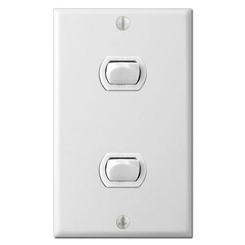 2 Despard Sierra Low Voltage Switch Plate Set - White
