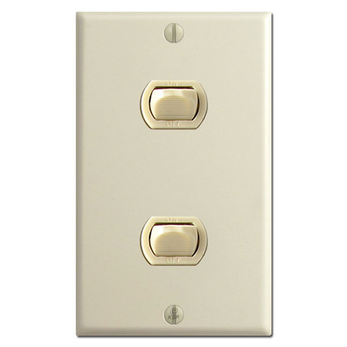 2 Switch Low Voltage Despard Wall Plate Set - Ivory