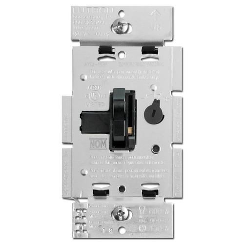 Lutron Black Toggler Dimmer LED CFL Incandescent S/P 3W