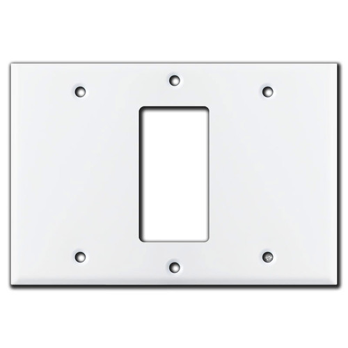 Blank Rocker Blank Wall Switchplate Cover - White
