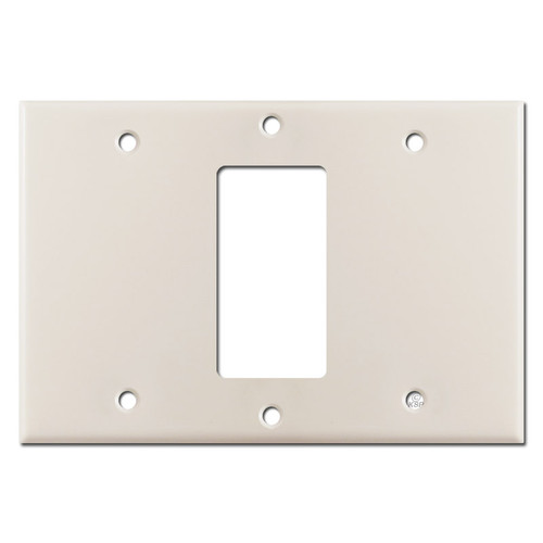 Blank Decor Blank Switch Plate Cover - Light Almond