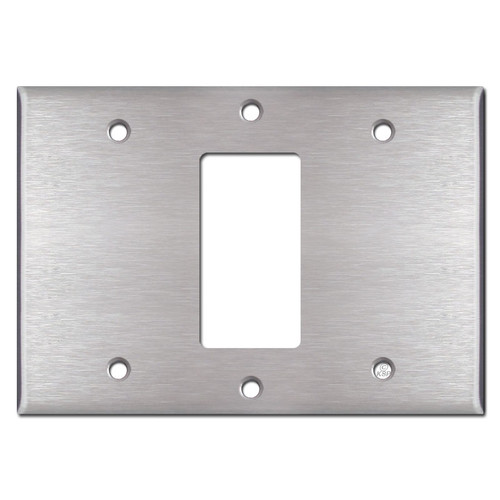 Blank Decora Blank Switch Plate - Stainless Steel