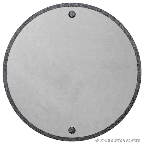 "Outdoor 4"" Round Blank Wall Plate Cover - Aluminum"
