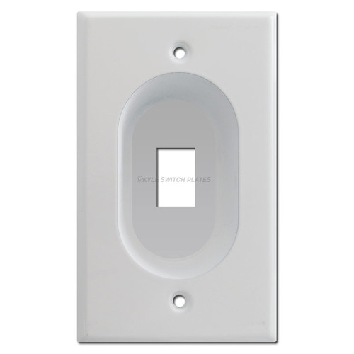 Recessed 1 Modular Keystone Jack Outlet Cover Plates