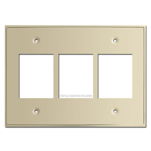 Touch Plate 3 Gang Classic Low Voltage Switchplate - Ivory