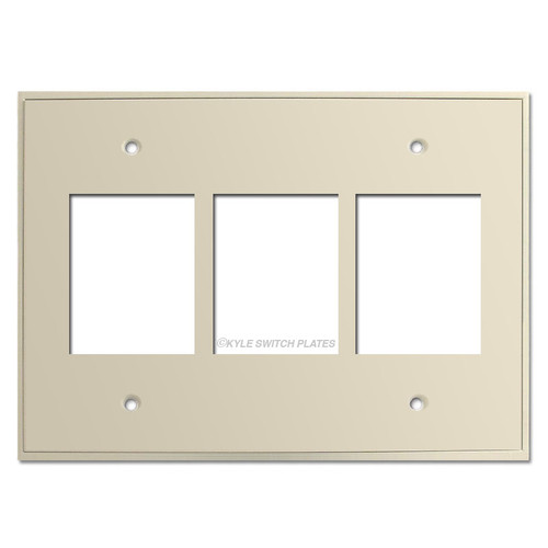Touch Plate Classic Low Voltage Triple Wall Plate Covers - Almond