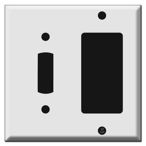 Wide Toggle + Decor Rocker Outlet Wall Switch Plate Covers