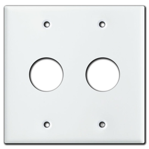 2-Gang Wall Plates with Large Round Cutouts
