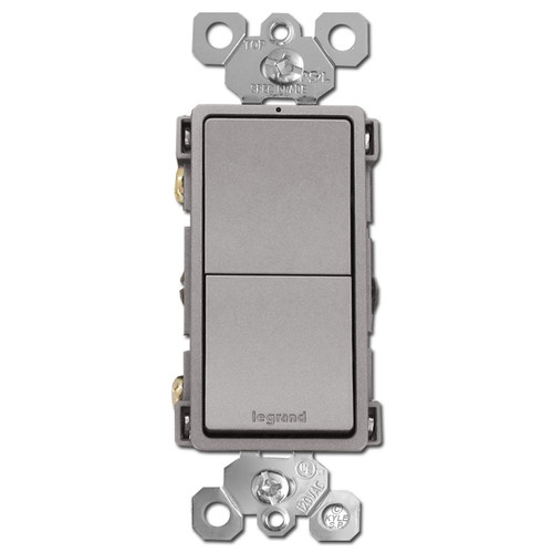 Nickel Stacked Rocker Switch Single Pole/3 Way