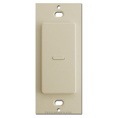 Touchplate 1 Button Ultra Low Volt Light Switch - Almond