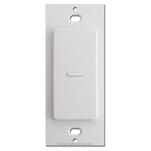 Touch-plate Ultra Modern 1 Button Low Voltage Switch - White