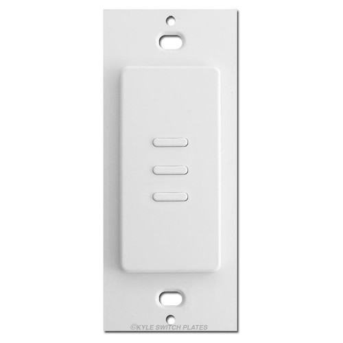 Touch-plate Modern Low Voltage Switch 3 Button Ultra - White