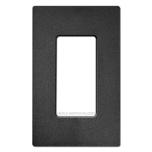 1 Decor Screwless Wall Switch Cover Lutron - Satin Black