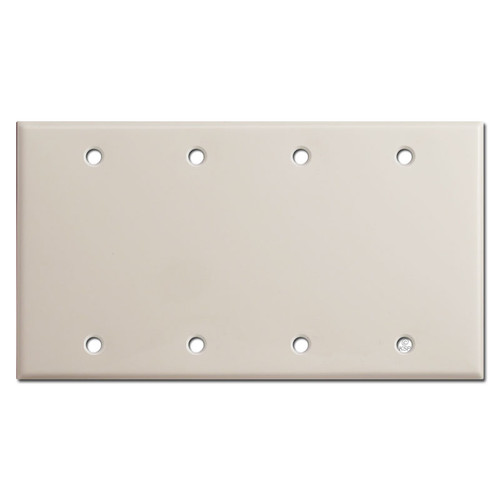 4 Blank Electrical Wall Switch Plate Cover - Light Almond