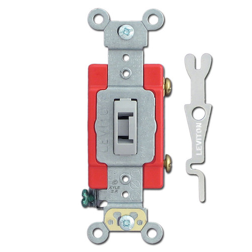 Leviton Gray 20A Locking Switches with Key