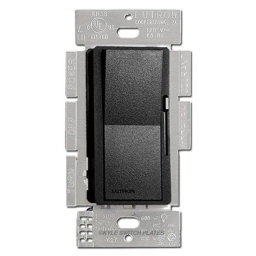 Satin Black Rocker Dimmer Switch - CFL LED Incandescent Lutron