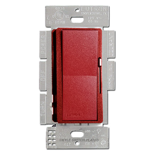 Satin Red Decor Rocker Dimmer Switch - CFL LED Incandescent Lutron