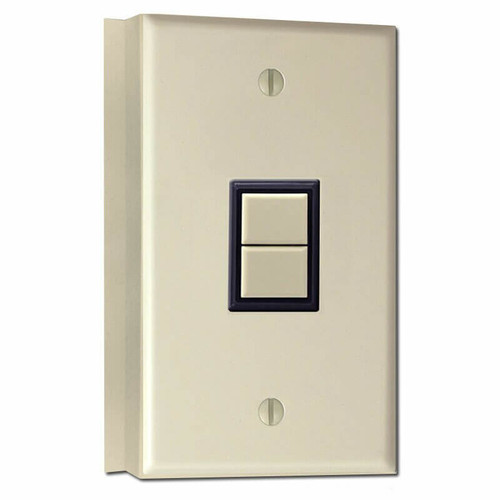 GE Low Voltage 1 Switch Surface Mount Wall Plate Unit - Ivory