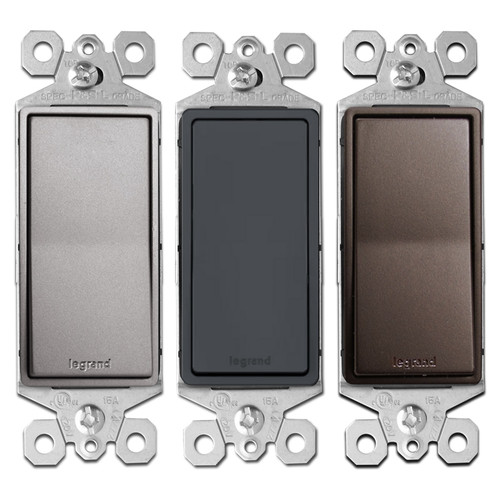 3-Way Metallic Decor Rocker Switches - Legrand
