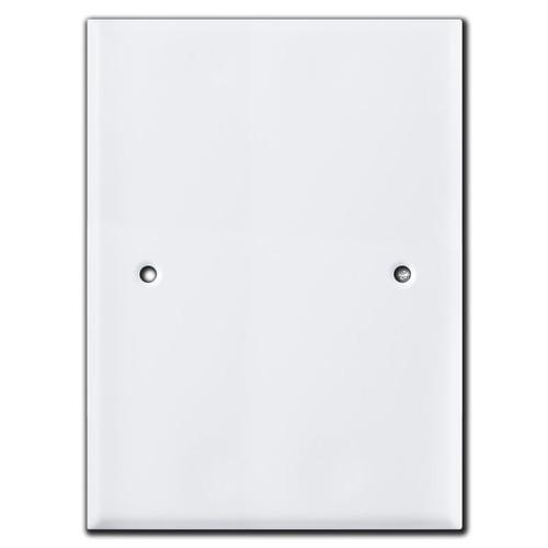 "Jumbo 7.5"" x 5.5"" Blank Wall Plate Cover - 3.75"" Screw Hole Set"
