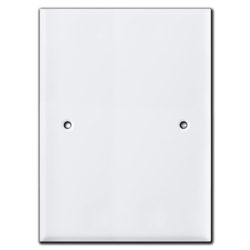 "Jumbo 7.5"" x 5.5"" Blank Wall Plate Cover - 3.75"" Screw Hole Set"