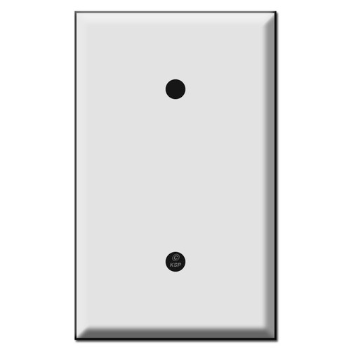 """Special Blank Round Outlet Covers - Device Mount Screw Holes 2.375"""""""