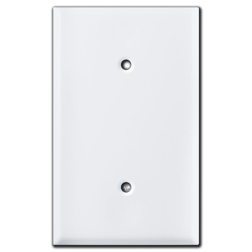 White Blank Round Outlet Covers