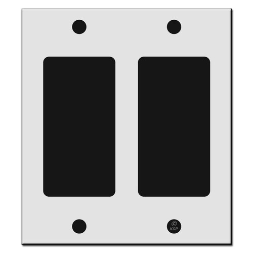 """4"""" Narrow 2 Decor Rocker Outlet Cover Switch Plates"""